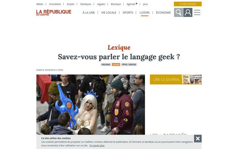 Savez-vous parler le langage geek ? - Orléans (45000) - La République du Centre