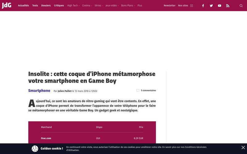 Insolite : cette coque d'iPhone métamorphose votre smartphone en Game Boy | Journal du Geek