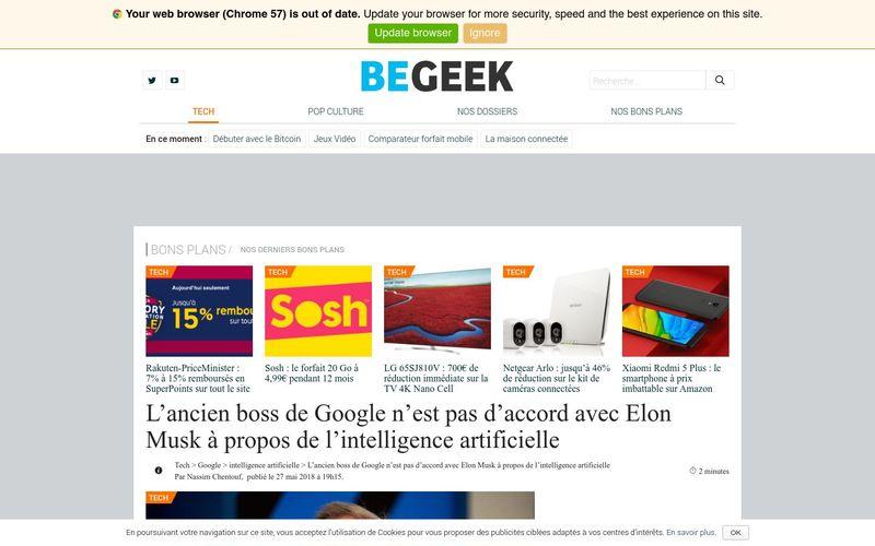 Begeek : L'ancien boss de Google n'est pas d'accord avec Elon Musk à propos de l'intelligence artificielle